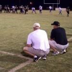 Trainer beobachten Spiel