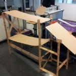Pappmodell einer Materialzuführung