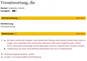 Duden-Definition Verantwortung